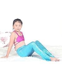 pepeng Juego de 3pcs cola de la Sirenita Bikini Bañador para edad 3–12años niñas