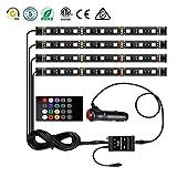 DONG Autoinnenraum-LED-Lichter 4 stücke LED 7 Farben LED-Streifenlichter zum Autos