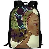 HOJJP Langlebigster leichter Schulrucksack Bookbag One Size - African Woman