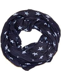 Prinidor Schal Tuch Sterne Sternchen Stars Print mit Seide