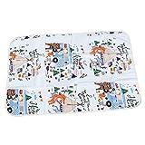 Fasciatoio Portatile Pieghevole da Viaggio Materasso infantile traspirante impermeabile Materasso neonato biancheria da letto di cotone addensato trapuntato a tre strati-60 * 90 cm (Fox & Bird)
