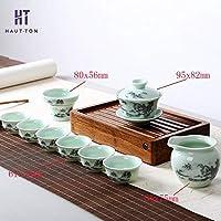 Nombre d'utilisateurs: 7-9  Matériau: céramique  Note: sans plateau à thé, tampon à thé  Fabriqué en Chine  thé traditionnel chinois  il peut montrer votre élégance goût