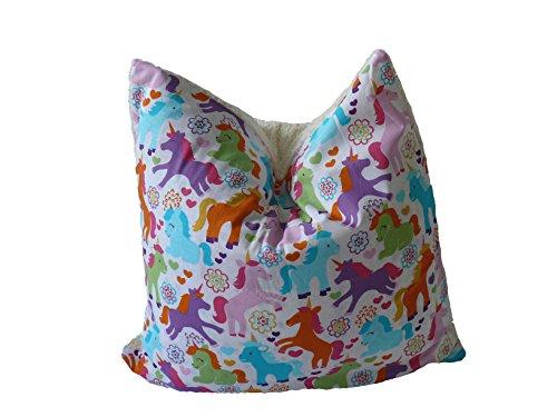 Preisvergleich Produktbild Fitzibiz Kinderkissenbezug Emily, Öko-Teddy, Einhörnerdruck, weiß, bunt 50x50cm auch in anderen Größen verfügbar