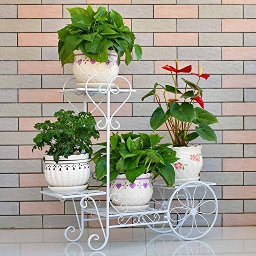 IU Desert Rose Étagère de balcon Ru t-proof Fer fleur tand Multi-couche Balcon Intérieur Plant helf Living Room-étalage vert Flower Pot Rack (Couleur: Rouge Cuivre, Taille: L68cm * H66cm)