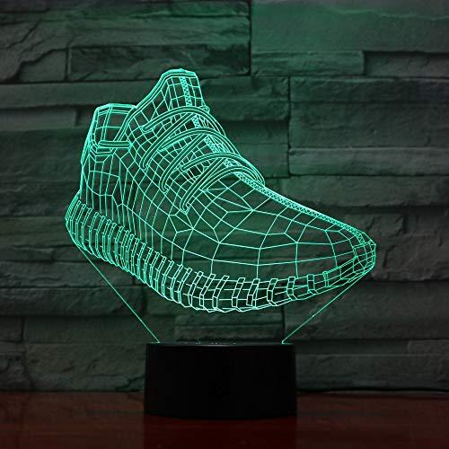 Luce notturna 3D Scarpe da tennis 3D LED luminosi per bambini Giocattoli luminosi Ragazzi Ragazze Bambino 7 colori Lampeggiante LXKEM