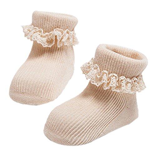 Pro Lovely Neugeborene Baby Socken bequem Warm Baumwolle Socken Beute Socken mit Spitze für 1-3Jahre Baby Mädchen Geburtstag Socken Foto Requisiten Outfits -