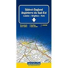 Straßenkarte Südost-England 1 : 300 000: London - Brighton - York. Mit Sehenswürdigkeiten, Reiseinformationen, Index (Kümmerly+Frey Reisekarten)