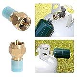 geshiglobal Propan-Nachfüll-Adapter für Flüssiggas-Flaschen, -Tanks, Verbindungsstück, für Heizung, Camping- und Jagd-Zubehör
