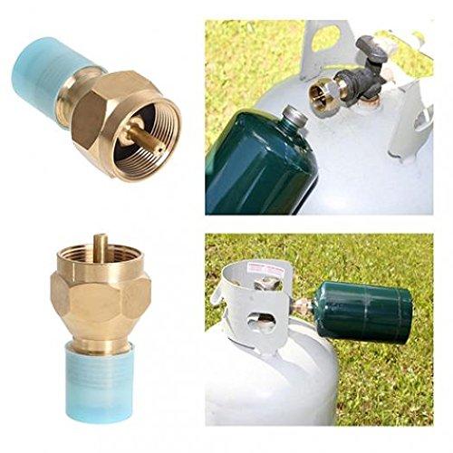 geshiglobal Propan Refill Adapter LP Gas Zylinder Tank Kupplung Heizung Camping Hunt - Propan-tank-refill