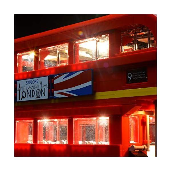 BRIKSMAX Kit di Illuminazione a LED per London Bus, Compatibile con Il Modello Lego 10258 Mattoncini da Costruzioni… 3 spesavip