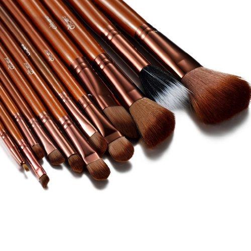 Glow brun professionnel 12 lot pinceaux maquillage trousse en cas exquis