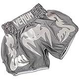 Venum Bangkok Inferno - Short de boxe thai - Homme - Gris (Grey/White) - Taille: M