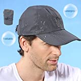 Outfly Man Waterproof Baseball Cap,Three Folds, Portable Cap,Black(Size: One Size)