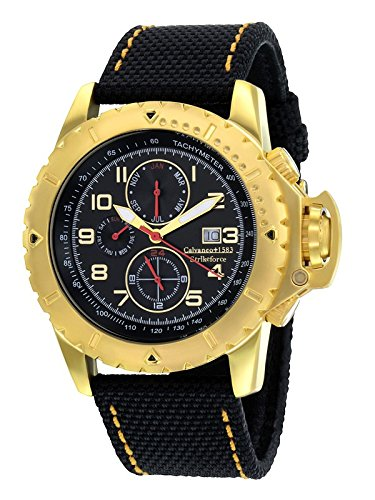 Calvaneo 1583Strikeforce oro nero Special Force cronografo