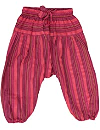 Shopoholic Moda Infantil Hippie Harén Holgado Boho Pantalón Hippy Coloridos Infantil Retro Cómodo Pantalón