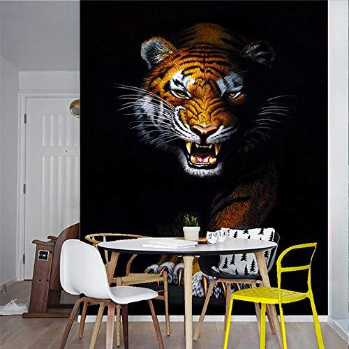Amazhen Benutzerdefinierte 3D Wandbild Tapete Moderne Einfache Tier Tiger Tapeten Restaurant...