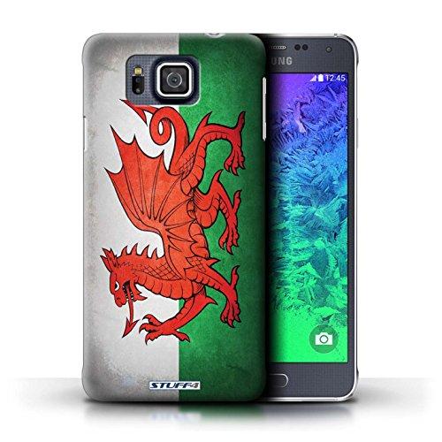 Kobalt® Imprimé Etui / Coque pour Samsung Galaxy Alpha / Algérie conception / Série Drapeau Pays de Galles/gallois