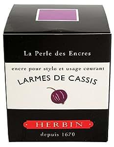 Georges Lalo Flacon d'encre traditionnelle pour stylo 30 ml Larmes de Cassis