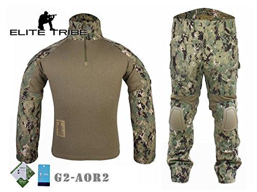 AIRSOFT Jagd Tactical passt Military Combat G2Uniform Shirt Hose Aor2 (Uniform Patch Abzeichen)