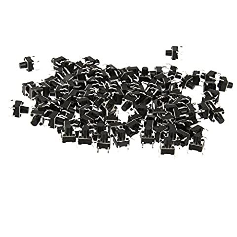 Generic 100pcs Taktiler Drucktasten Schalter Takt Schalter Mikro Schalter - 6x6x7mm