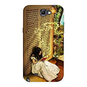 Cute Secrate Book Multicolor Back Case Cover for Galaxy Note 2
