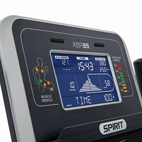 """Spirit Fitness Bike XBR 95 – Heimtrainer, Sitz-Ergometer, 12 Programme, 13,5kg Schwungrad, 7,5"""" LCD - 7"""