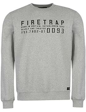 Firetrap Hombre Sudadera Gráfica Cuello Redondo