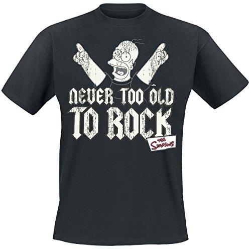 simpsons-t-shirt-di-homer-never-too-old-to-rock-tratta-dal-cartone-tv-girocollo-nero-xxl