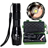 LED Torch Flashlight, cyful Super Bright 2000 Lumens CREE XM-L2 LED Tactical Flashlight, Portable Zoomable Adjustable Focus Waterproof Tactical Flashlight with 5 Modes Included Battery and Charger