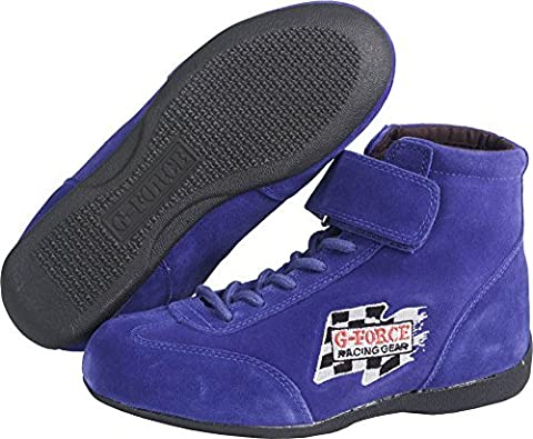G-Force Racing Gear 0235BL9 GF235 RaceGrip Mid-Top Shoes Blue Size 9