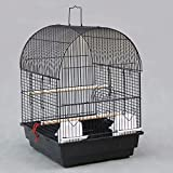 GL-birdcage Bird Breeding Cage/Aviary for African Grey Parrots Cockatiels Parrocchetti/Nero