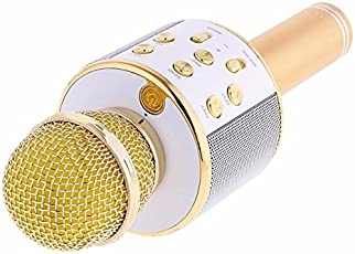 Piqancy WS-858 Portable Multi-function Wireless Handheld Microphone Karaoke KTV Player Condenser with Bluetooth Speaker for Smartphone Tablet PC