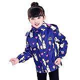 JYJSYMTZ Die Kinderhose in der Kinderjacke kann in Zwei Stücke von Herbst Hase über 110 cm, blau, 120 cm aufgeteilt Werden