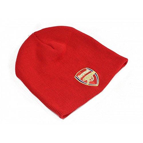 Arsenal FC Fußball Strick Beanie Mütze (Einheitsgröße) (Rot) - Arsenal-fußball-hut Fc