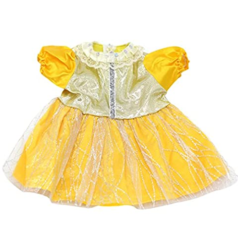 Handmade Yellow Skirt Dress Outfit for 18 Inch American Girl Doll Clothes