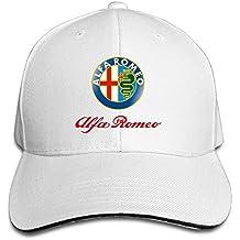 Hittings Alfa Romeo Sandwich Baseball Caps For Unisex Adjustable White
