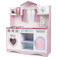 Leomark Pink Play Holzküche fur kinder kinderküche kuche spielen kuchen holz 82x30x101 cm