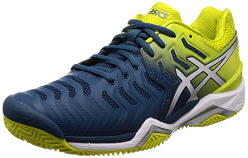 ASICS Gel-Resolution 7 Clay, Scarpe da Tennis Uomo, Blu (Ink Bluesulphur Springwhite 4589), 46 EU