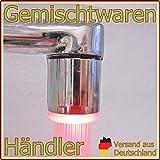 LED Wasserhahnaufsatz Farbwechsel 7 Farben Regenbogen keine Batterien nötig Bad Küche Waschbecken Aufsatz Amatur