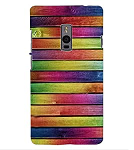 ColourCraft Colourful Bars Design Back Case Cover for ONEPLUS TWO