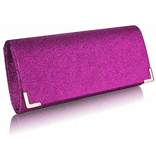 LeahWard® Femme Bridal's Mariagenuit Fête Spark Sac Main Portefeuille Glitter Sacs À Main Violet