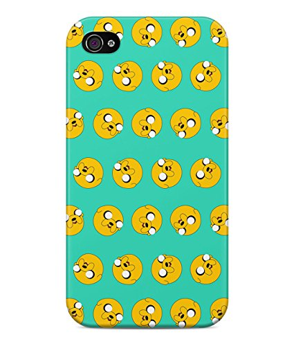 Adventure Time Jake The Dog Pattern Hard Plastic Snap On Back Case Cover For iPhone 4 / 4s Custodia