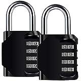 Nahua 2 Pack Sicherheits-Kombination Vorhängeschloss für Schule Gym Locker, Mental und plattiert Stahl Wetter Proof Design für Gepäck Oder Reisekoffer, Outdoor Storage