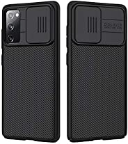 Samsung Galaxy S20 FE Case with Slide Camera Cover, Slim Stylish Slip Shockproof Protective Case for Samsung G