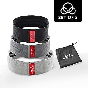 Po-Training Krafttraining Physiotherapie mit Tragetasche Yoga 5BILLION Widerstandsband-/Übungsband-Set 12  x 3  Fitness-Schleifenb/änder f/ür die Kn/öchel-Ges/ä/ßarme Arme Beine