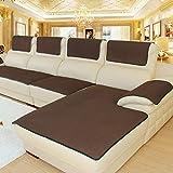 Thick Anti-scivolo Divano divano protector, Multi-size Gli slipcovers Fodera per divano componibile, Braccio di copridivano, Per divano in pelle Venduto in pezzi-Marrone scuro 60x180cm(24x71inch)