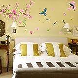 Wandaufkleber Raum-Nachttischdekoration kreative pastorale Pfirsich-Blume selbstklebende Tapeten-Abziehbilder