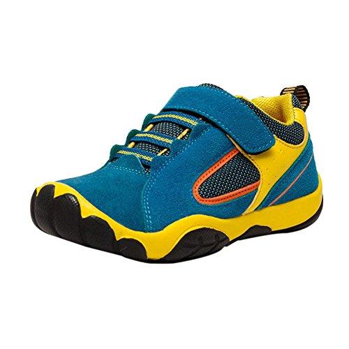 Haodasi Kinder Kids Jungen Frühling Sport Schuhe Casual Breathable Mesh Oberfläche Turnschuhe Blue