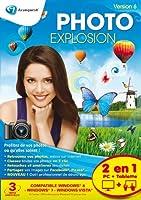 3 Avec Photo Explosion, la gestion de ses photos est un véritable jeu d'enfant ! Le logiciel retrouve automatiquement toutes les photos, où qu'elles soient, même sur Internet. Il permet de les classer ou de les retoucher en quelques clics, et de les ...