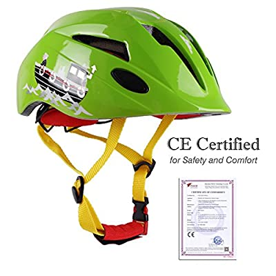 LEADFAS Kids Cycle/Bike Helmet, CE Certified Lightweight Children Multi-Sport Cycling/Skateboarding/Skating/Scooting Helmet With Adjustable Straps for Boys & Girls Safety Protection by LEADFAS